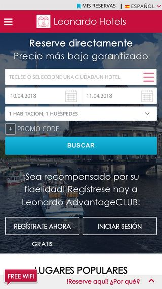 Mobile preview of leonardo-hotels.es