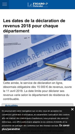 Mobile preview of leparticulier.lefigaro.fr
