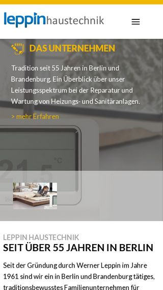 Mobile preview of leppin.de