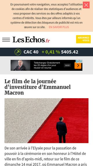 Mobile preview of lesechos.fr