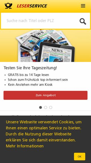 Mobile preview of leserservice.de