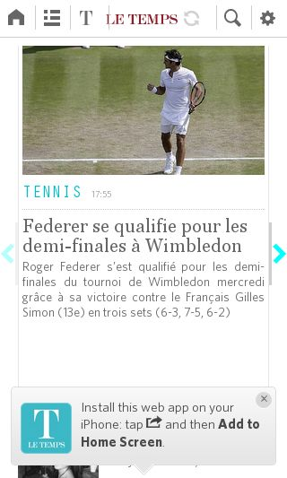 Mobile preview of letemps.ch