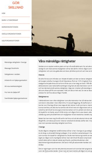 Mobile preview of letsmakeadifference.se