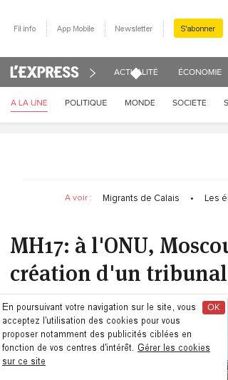 Mobile preview of lexpress.fr