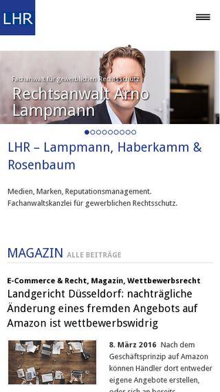 Mobile preview of lhr-law.de