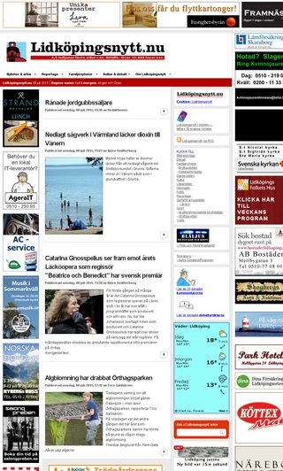 Mobile preview of lidkopingsnytt.nu