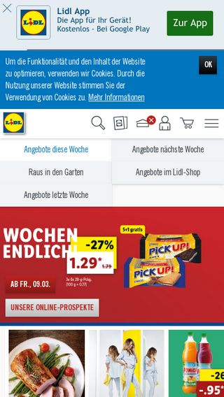 Mobile preview of lidl.de