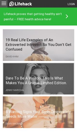 Mobile preview of lifehack.org