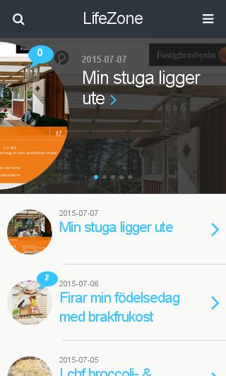Mobile preview of lifezone.se