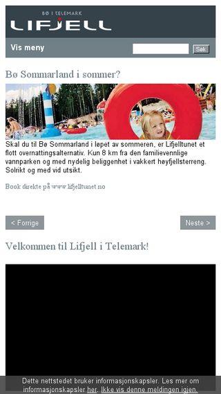 Mobile preview of lifjell.no