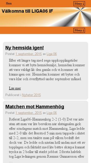 Mobile preview of liga06.se