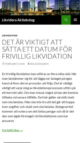 Mobile preview of likvideraaktiebolag.se
