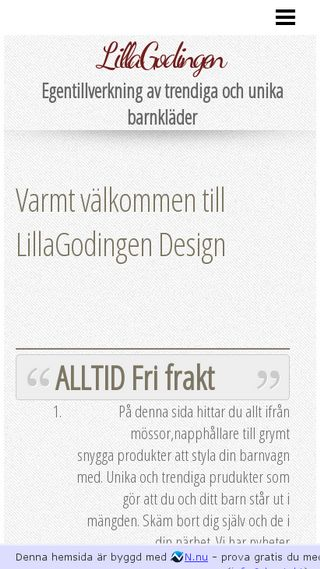 Mobile preview of lillagodingendesign.n.nu