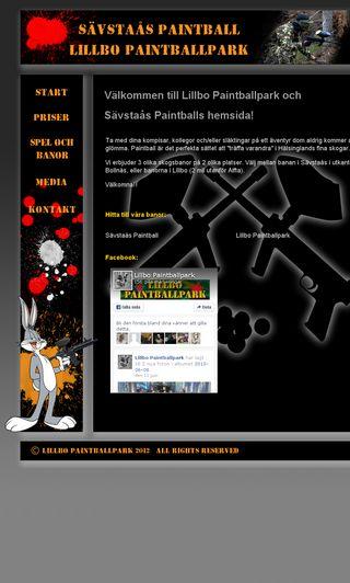 Mobile preview of lillbopaintballpark.se