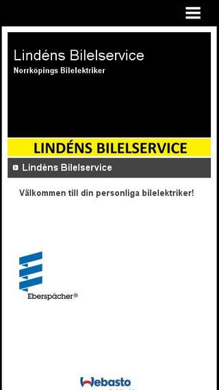 Mobile preview of lindensbilelservice.n.nu