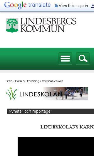 Mobile preview of lindeskolan.se