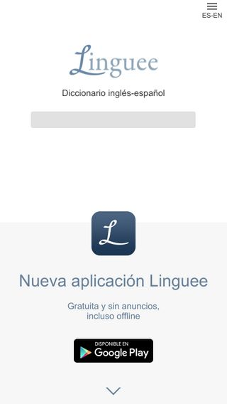 Mobile preview of linguee.es