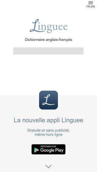 Mobile preview of linguee.fr