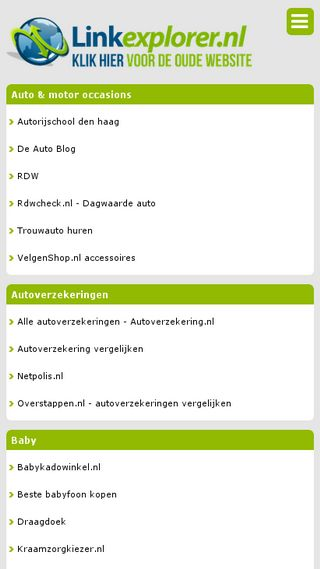 Mobile preview of linkexplorer.nl
