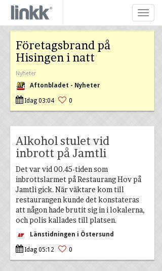 Mobile preview of linkk.se