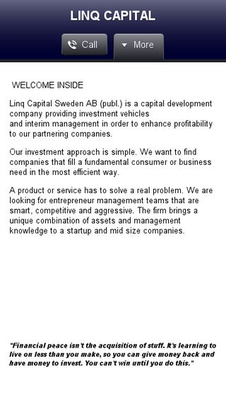 Mobile preview of linqcapital.se