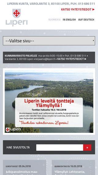 Mobile preview of liperi.fi