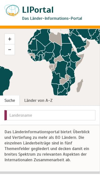 Mobile preview of liportal.de