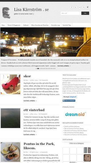 Mobile preview of lisakarrstrom.se