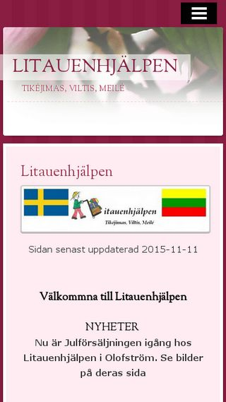 Mobile preview of litauenhjalpen.n.nu