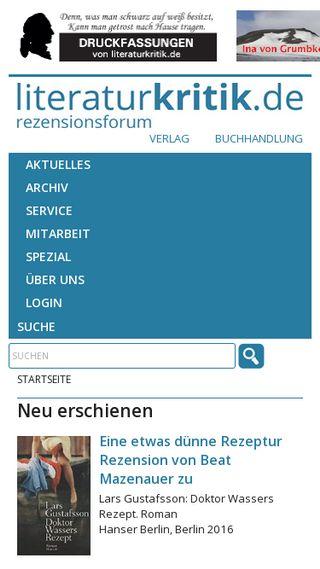Mobile preview of literaturkritik.de