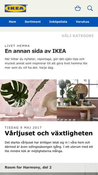 Mobile preview of livethemma.ikea.se