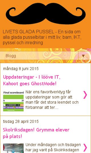 Mobile preview of livetsgladapussel.se