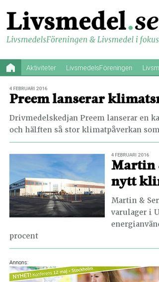 Mobile preview of livsmedel.se