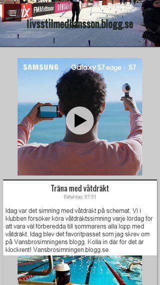 Mobile preview of livsstilmedhansson.blogg.se