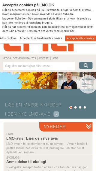 Mobile preview of lmo.dk
