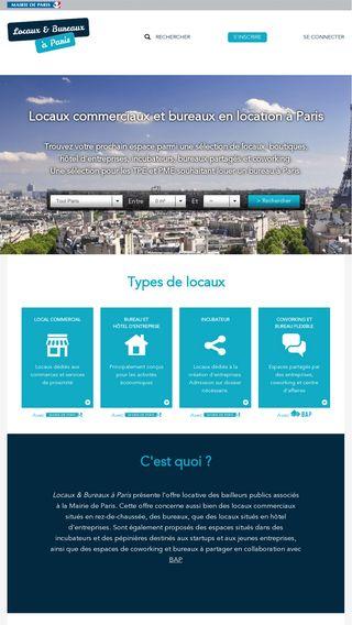 Mobile preview of locaux-bureaux.paris.fr