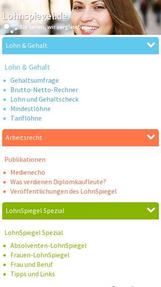 Mobile preview of lohnspiegel.de