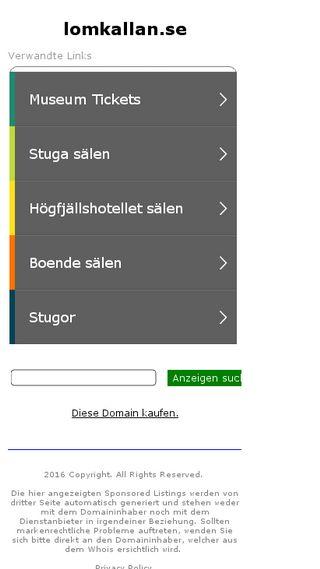Mobile preview of lomkallan.se