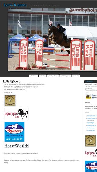 Mobile preview of lottasjoberg.n.nu