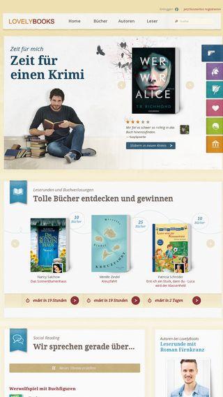 Mobile preview of lovelybooks.de