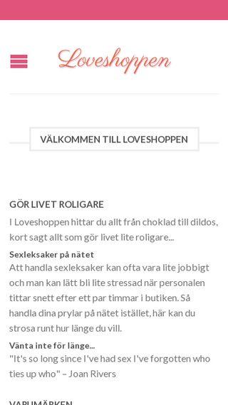 Mobile preview of loveshoppen.se