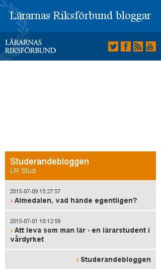 Mobile preview of lrbloggar.se