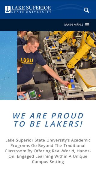 Mobile preview of lssu.edu