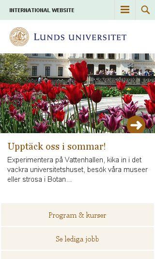 Mobile preview of lu.se