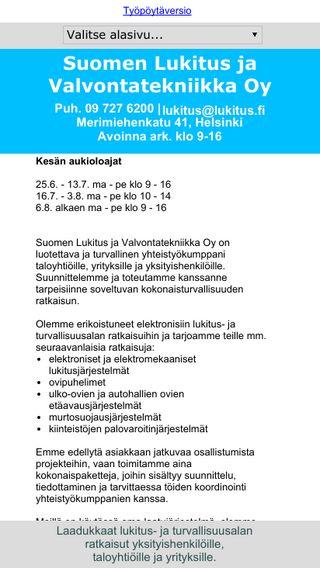 Mobile preview of lukitus.fi