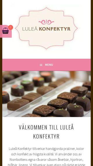 Mobile preview of luleakonfektyr.se