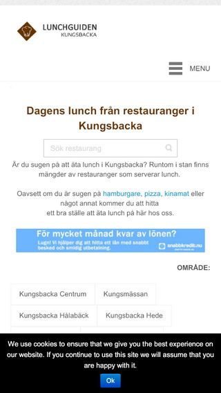Mobile preview of lunchguidenhalmstad.nu