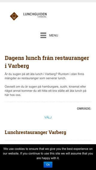 Mobile preview of lunchguidenvarberg.se