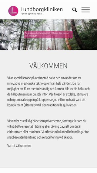 Mobile preview of lundborgkliniken.se