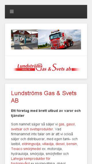 Mobile preview of lundstromsgasosvets.se
